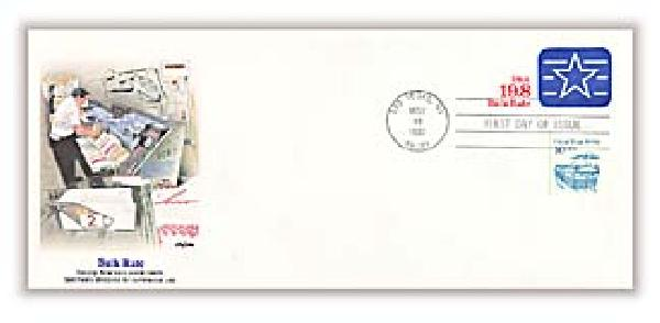 1992 19.8c Bulk Mail Rate Cancelled Envelope