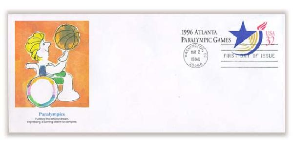 1996 32c Paralympics Cancelled Envelope