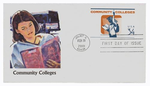 2001 34c Community College 6 3/4 PSE FDC