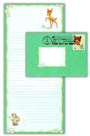 2004 Disney-Bambi Stationery FDC