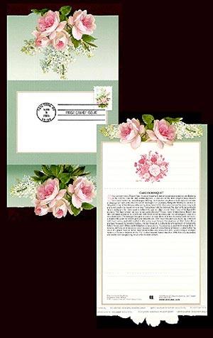 2005 37c White Lilacs & Pink Roses FDC