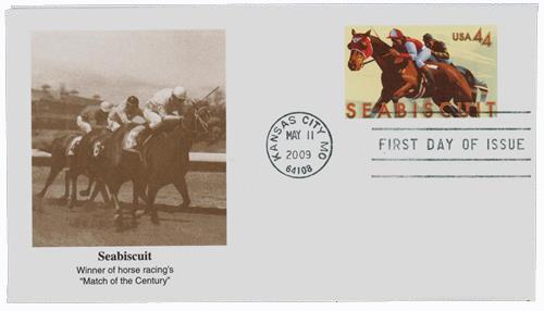 2009 44c Seabiscuit stamped envelope