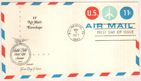 1971 11c Air Post Envelope - Jet Plane