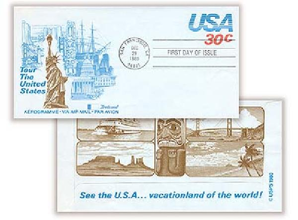 1980 30c Air Post Envelope - Tour the United States