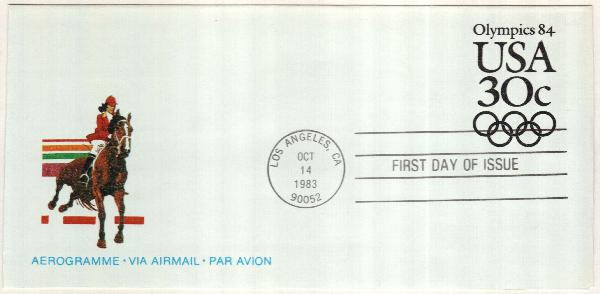 1981 30c Air Post Envelope - 1984 Olympics