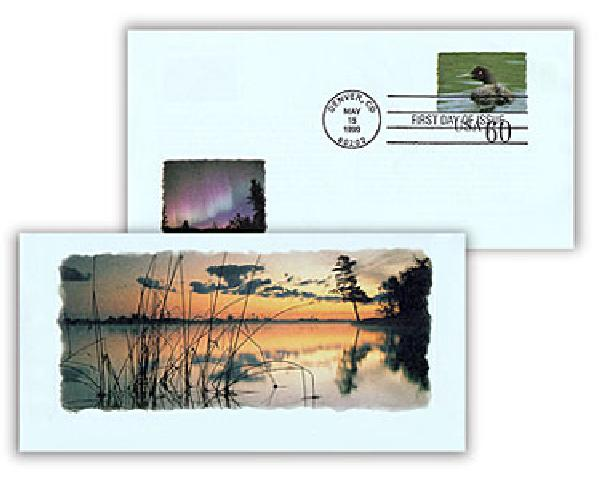 1999 60c Air Post Envelope - Voyageurs National Park