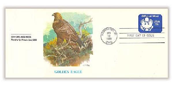 1983 20c Official Mail Golden Eagle Envelope