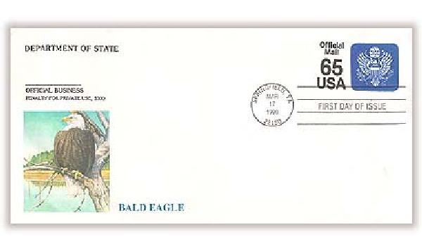1990 65c Official Mail Envelope