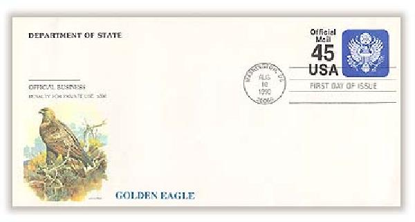 1990 45c Official Mail Self-Sealing Envelope