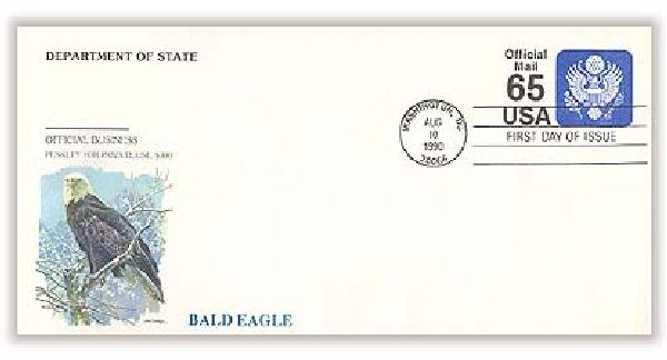 1990 65c Official Mail Self-Sealing Envelope