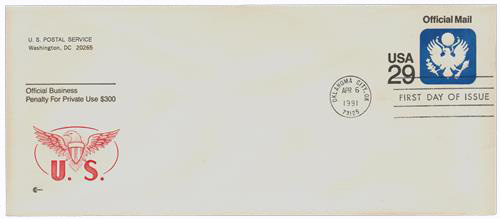 1991 29c OFFICIAL MAIL