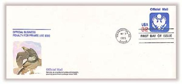 1995 Official Mail Cancelled Envelope #10