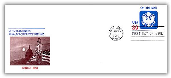2006 39c Official Mail PSE Envelope #10
