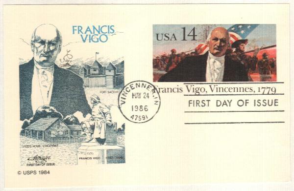 1986 14c Francis Vigo