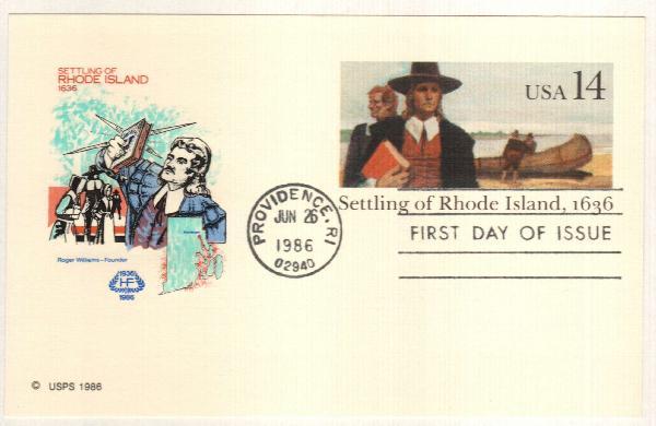 1986 14c Rhode Island