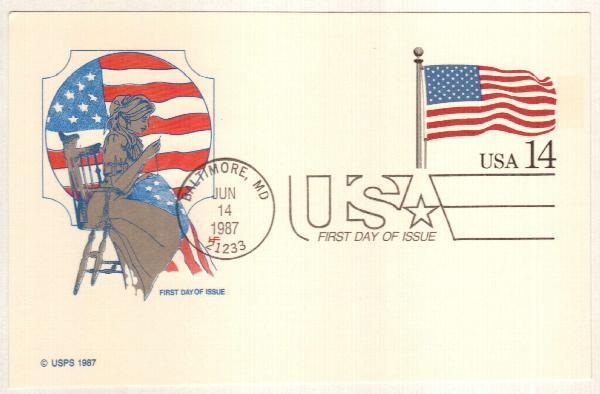 14c 1987 Flag