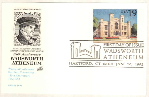 1994 Postal C. Wadsworth Atheneum