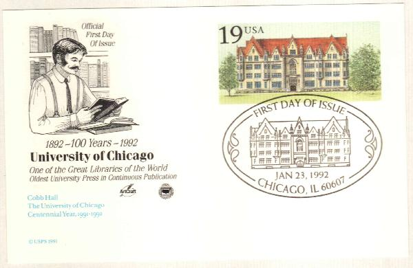 1992 Postal C. Cobb Hall, Univ.Chicago