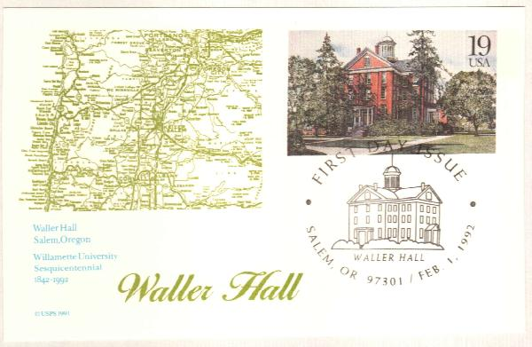 1992 19c Waller Hall Postal Card