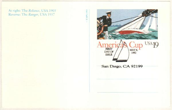 1992 19c Americas Cup