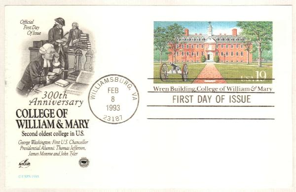 1993 19c Wern B./William & Mary College