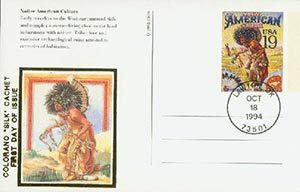1994 19c Native Amer Culture Postal Card
