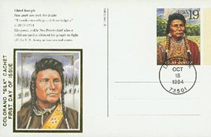 1994 19c Chief Joseph Postal Card