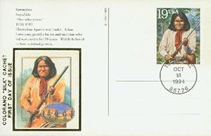 1994 19c Geronimo Postal Card