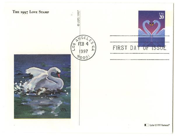 1997 20c Swans