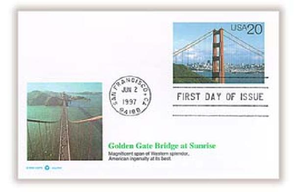 1997 20c Golden Gate Bridge in Daylight