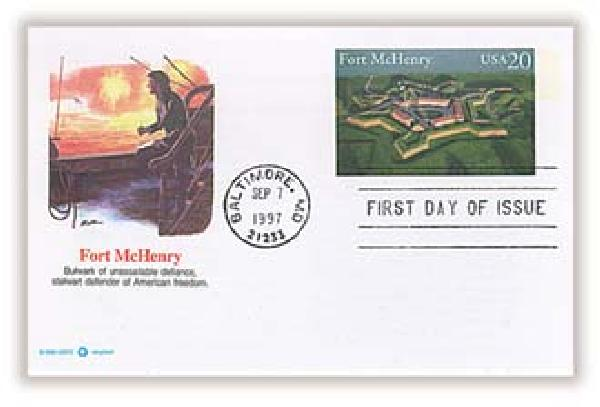 1997 20c Fort McHenry PC FDC