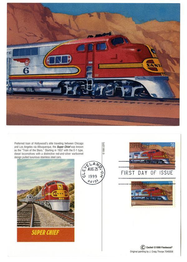 1999 Super Chief Combination Postal Card