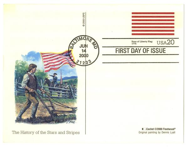 2000 20c Sons of Liberty PC FDC