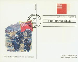 U.S. #UX322 – Brandywine Flag First Day Post Card.