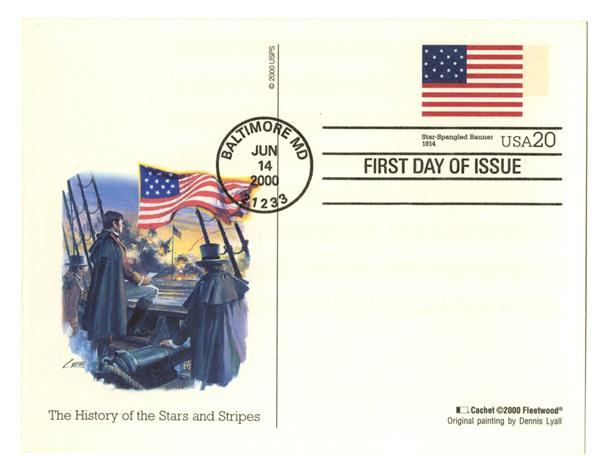 2000 20c Star Spangled Banner PC FDC