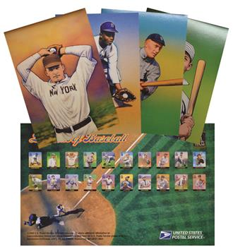 2000 20c Legends of Baseball - Set of 20 Prestamped Postal Cards