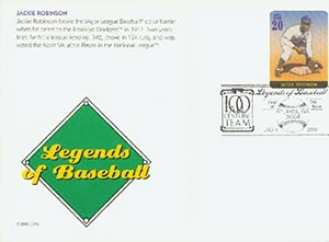 2000 20c Jackie Robinson PC FDC