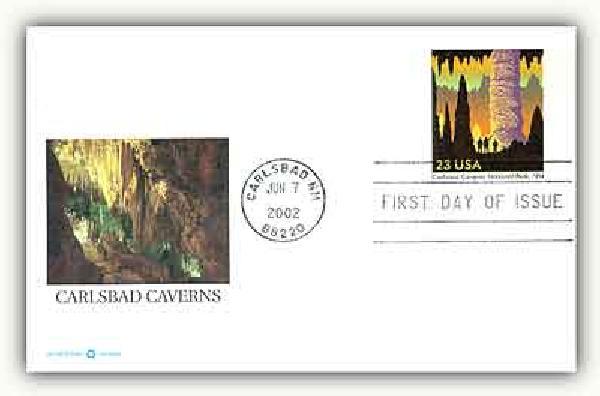 2002 23c Carlsbad Caverns PC FDC