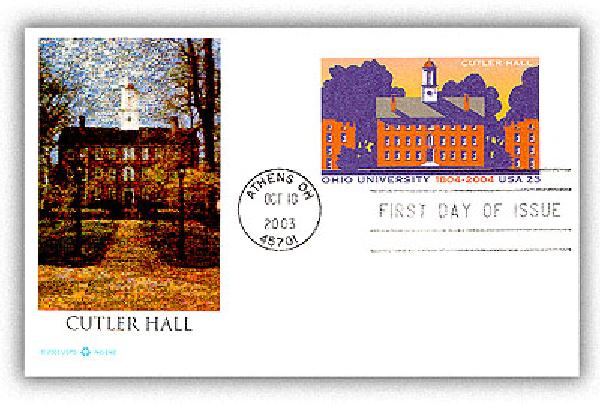 2003 23c Ohio University Cutler Hall PC FDC