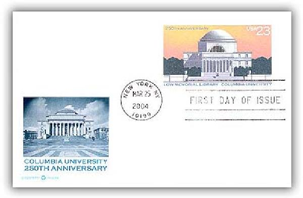 2004 23c Columbia University PC FDC