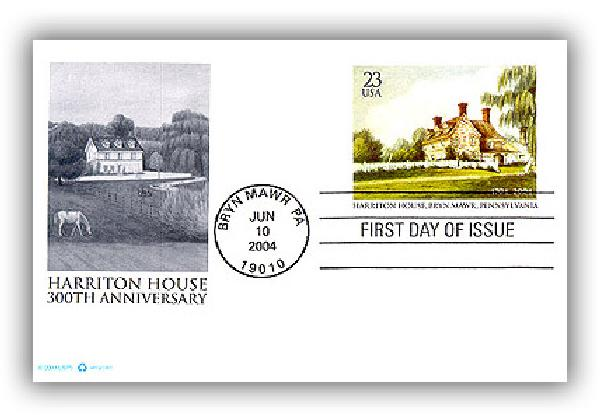 2004 23c Harriton House Postal Card FDC