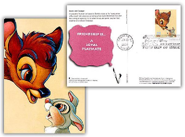 2004 Disney-Bambi PC FDC