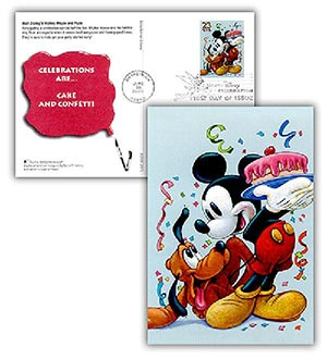 2005 Mickey & Pluto PC FDC