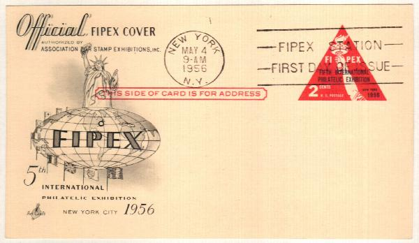 US 1956 2c FIPEX Postal Card