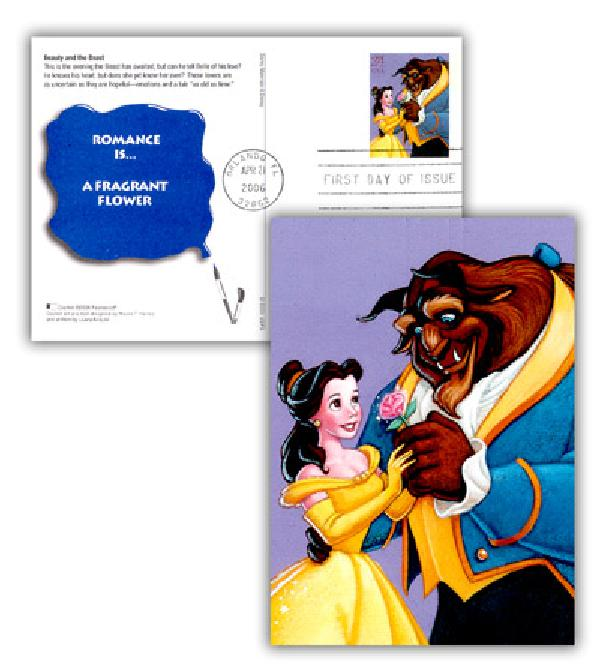 2006 Beauty & The Beast Postal Card FDC