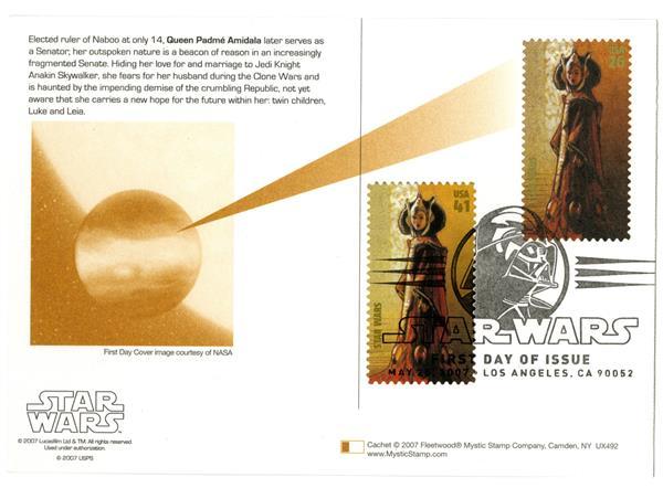 2006 26c Star Wars-Q. Padme w/stamp add
