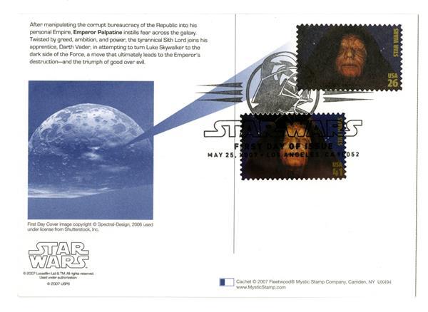 2007 26c Star Wars-Palatine w/stamps add
