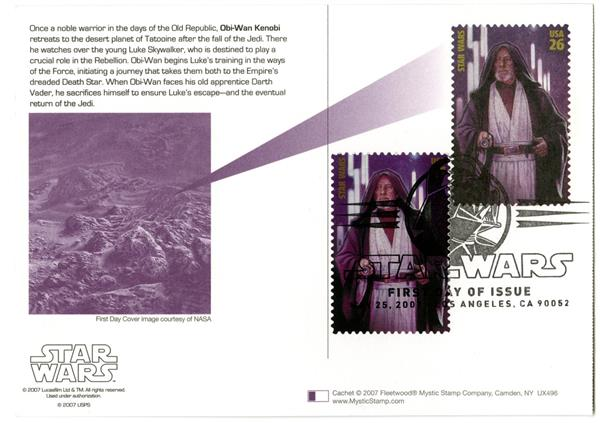 2007 26c Star Wars-Obi-Wan w/stamp added