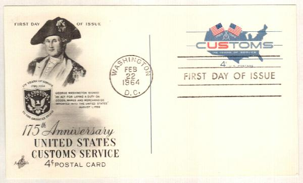 US 1964 Customs Service Postal Card
