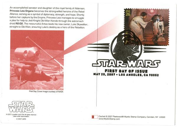 2007 26c Star Wars-Princess Leia Organa